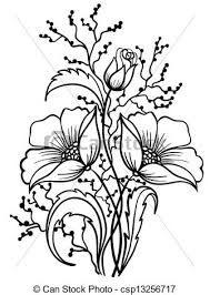 Billedresultat for blomster sort hvid