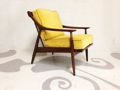 mid century modern lounge chair in walnut with a by dsartereno
