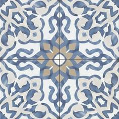 Bedrosians Villa Azul Blue x Porcelain Deco Floor and Wall Tile (Common: x Actual: x at Lowe's. Bring the timelessness of old world design into your home with the Villa Azul collection. Lends itself beautifully ito a variety of design aesthetics, Bathroom Floor Tiles, Kitchen Tiles, Shower Floor, Kitchen Flooring, Wall Tiles, Tile Floor, Lowes Backsplash Tile, Tile Bathrooms, Subway Tiles