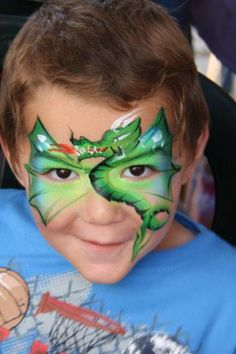 Another dragon face paint design face painting ideas for kids