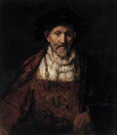 Рембрандт. Портрет старика в причудливом костюме. 1651. Дербишир. Чатсуорт-Хаус. Коллекция герцога Девонширского.
