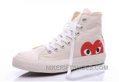 fc19d6048a7 White CONVERSE Comme Des Garcons Play Chuck Taylor Hi Sneakers Cheap To Buy  MdFzh