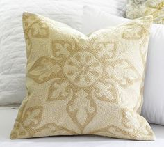 Gracie Crewel Embroidered Pillow Cover #potterybarn