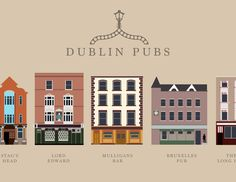 A poster of 'minimal dublin pubs' im working on.