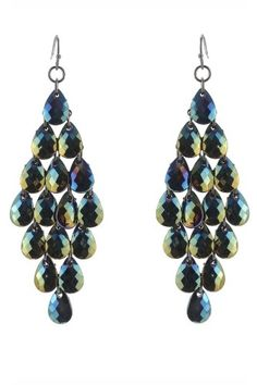 Lobe Love! 8 Statement Earrings Under $50 #refinery29  http://www.refinery29.com/lobe-love-8-statement-making-earrings-under-50#slide-3  Haskell Earrings, Iridescent Faceted Teardrop Earrings, $18, available at Macy's.