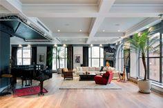 A luxury loft at Greewich Street in Tribeca, a neighborhood in Lower Manhattan, New York City, USA.