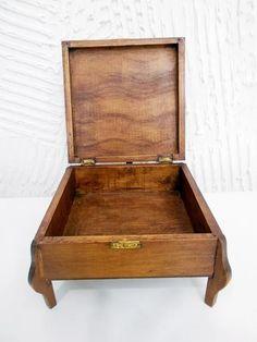 Caixa Em Madeira Maciça Decorada / Porta Jóia #decoração - R$ 24,90 em Mercado Livre