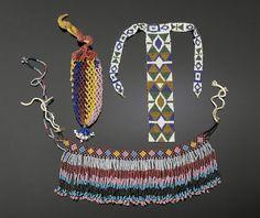 Elegant Apache Beaded Choker PLUS, (2004, American Indian Art Auction / Sept 18-19)
