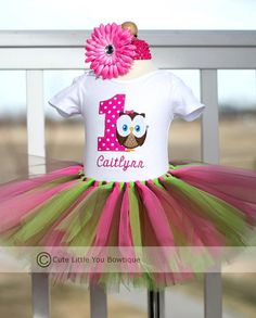 Personalized Owl First Birthday Outfit Set by cutelittleyou, $48.00