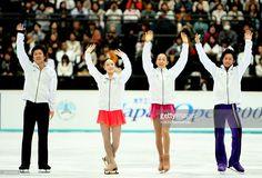With Takeshi Honda,Yukari Nakano and Mao Asada