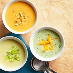 Cream of Any-Vegetable Soup: On weeknights, whip up an easy and nutritious soup using whatever vegetables you have on hand.  More soups and stews: http://www.midwestliving.com/food/soups/simmering-soups-stews-recipes/page/6/0