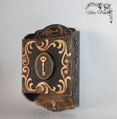Schlüsselkasten , Schlüsselbox.key box , Hamsa  von Exklusive Geschenke. auf DaWanda.com