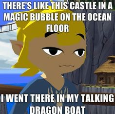 Toon Link Legend of Zelda Wind Waker Meme