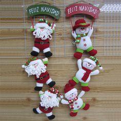 """Sin gastos de envío, 2013 nueva llegada, 32"""" interior colgando decoración de navidad de santa claus muñeco de niev..."""