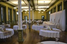Check out this great venue in St.Thomas; the CASO station which is a prefect fit for vintage themed weddings: www.somethingborrowedrentals.com Vintage Wedding Theme, Beautiful Wedding Venues, Windows Server, Themed Weddings, St Thomas, Conference, Table Decorations, Fit, Check