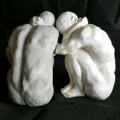 Male sculpture.  Modern art. abstract sculpture.