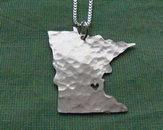 Minnesota State Necklace... I seriously want this. Like extremely bad...
