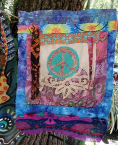 Large Hippie Prayer Flag for Peace Gypsy garden by justgivemepeace
