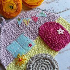 Potholder caravan crochet