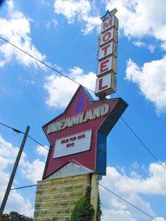 Dreamland Motel, now closed in Grandview Plaza, Kansas