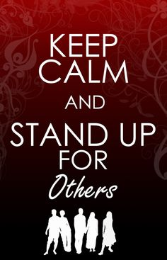 "Stand up.  I can't pin ""The Protectors"" anti-bullying site so I'm using someone else's cool graphic: theprotectors.org Also, you can find them on Facebook"