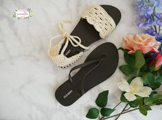 Crochet Sandals with Flip Flop Soles