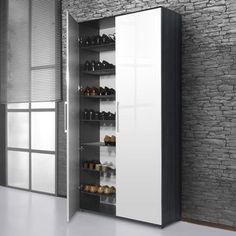 Meuble à chaussures - 38 paires SCARPA - Blanc/Carbone