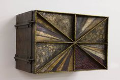"""""""Sculpture Front"""" Wall Cabinet by Paul Evans   From a unique collection of antique and modern cabinets at https://www.1stdibs.com/furniture/storage-case-pieces/cabinets/"""