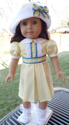 18 Doll Clothes 1930s/1940s Style Spring Dress by Designed4Dolls, $24.95