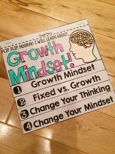 A Growth Mindset is something that can be taught! Encourage a Growth Mindset in your classroom with this Growth Mindset Flip Book!