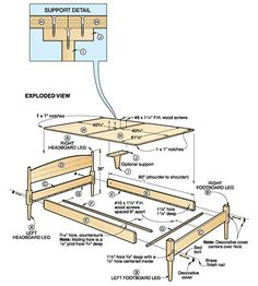 Bed plans woodworking, Woodworking Plans, Furniture & Bed Plans, Plans For Woodworking .