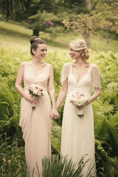 Maid of Honor's Gown: Vera Wang for David's Bridal - Pennsylvania Vintage Wedding from The Wedding Artist's Collective Lesbian Wedding Photography, Bridal Photography, Wedding Bridesmaids, Bridesmaid Dresses, Wedding Dresses, French Wedding, Dream Wedding, Cute Lesbian Couples, Lgbt Wedding