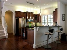 Kitchen Photos Dark Cabinets With Wood Floors Design Ideas, Pictures, Remodel, and Decor - page 8