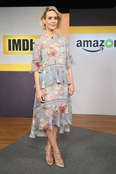 Spotted: Sarah Paulson in NYC this week wears the Havoc Floating Dress from our Spring 16 collection, Master and Mischief. The dress arrives instores and online late February.