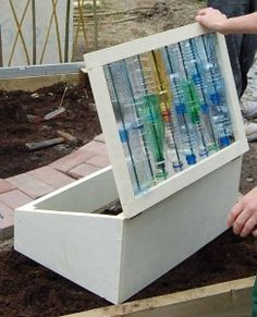 Upcycle Old Windows & Make Useful Cold frames Recycled Garden, Old Windows, Window Frames, General Crafts, Made Of Wood, Upcycle, Recycling, Cold Frames, Outdoor Decor