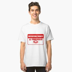 Classic T-Shirt Horticultural Therapist Powered By Donuts by flipper42