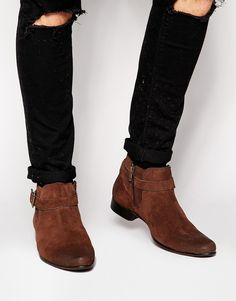 Buy ASOS Chelsea Boots in Brown Suede With Buckle Strap at ASOS. With free delivery and return options (Ts&Cs apply), online shopping has never been so easy. Get the latest trends with ASOS now. Brown Dress Boots, Dress With Boots, Asos Boots, Suede Boots, Brown Suede Chelsea Boots, Suede Cleaner, Buckle Boots, The Ordinary, American