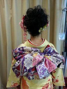 帯結び Kimono Japan, Japanese Kimono, Oriental Fashion, Asian Fashion, Obi One, Kabuki Costume, Kimono Design, Japanese Outfits, Yukata