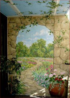 victorian wall murals - Google Search