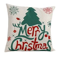 Gillberry Vintage Christmas Deer Sofa Bed Home Decoration Festival Pillow Case Cushion Cover multicolour >>> Be sure to check out this awesome product.Note:It is affiliate link to Amazon.
