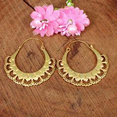 Gold Plated Earrings, Gold Bangles, Tribal Earrings, Women's Earrings, Brass Jewelry, Gemstone Jewelry, Antique Earrings, Simple Earrings