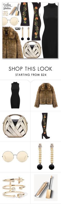 """Yoins.com"" by dressedbyrose ❤ liked on Polyvore featuring Steve Madden, Victoria Beckham, Marni, Andrea Fohrman, Burberry, WALL, yoins and yoinscollection"