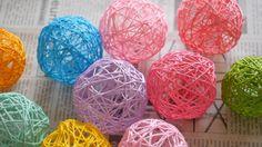 可愛いお部屋に!コットンボールライトの作り方。  how to make cotton balls