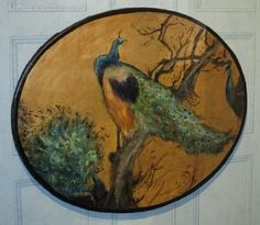 Antiques Atlas - Aesthetic Movement Oil Of Peacocks 585€