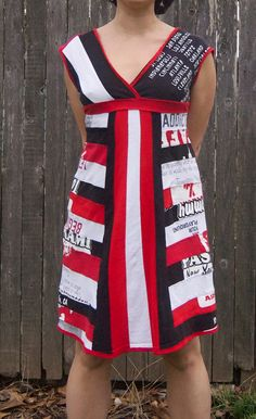 Upcycled Tshirt Dress. $175.00, via Etsy.-----175 bucks? Time to break out the sewing machine!