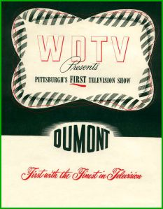 On Jan. 11, 1949, Pittsburgh's first television station - DuMont's WDTV Channel 3 - went on air with live special from 8:30 to 11:00 p.m. It began with a one-hour broadcast from Syria Mosque in Oakland. The remainder of show featured live segments from DuMont, CBS, NBC  ABC. In 1954, Westinghouse offered DuMont then-record $9.75 million for station. After the sale closed in January 1955, Westinghouse changed WDTV's call letters to KDKA-TV after its pioneering radio station KDKA-AM.