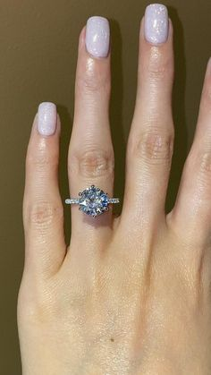 Engagement Rings On Finger, Beautiful Engagement Rings, Beautiful Rings, Wedding Engagement, Diamond Engagement Rings, Wedding Ring Styles, Best Wedding Rings, Dream Wedding, Mariage