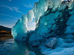 Alaska's Mendenhall Lake, at the terminus of Mendenhall Glacier near Juneau.