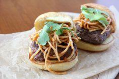 Spaghetti burger.