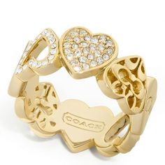 Coach Miranda Heart Band Ring ($78) ❤ liked on Polyvore